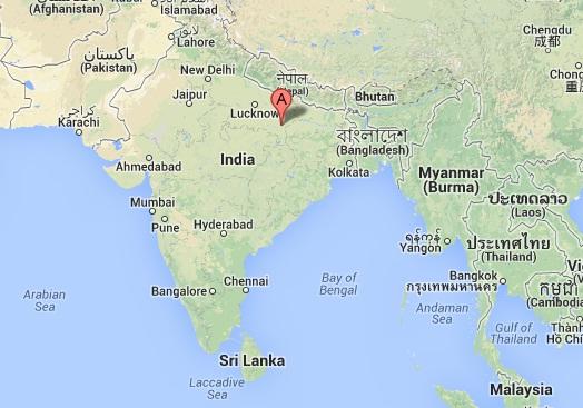Varanasi leży w północnych Indiach.