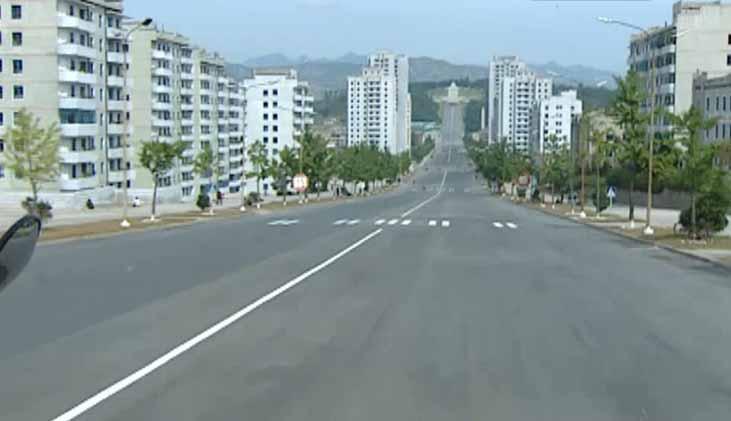 Puste drogi w Korei Północnej