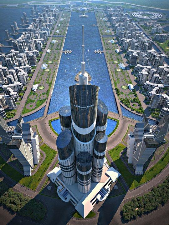 Wieża Azerbejdżanu - najwyższy wieżowiec świata