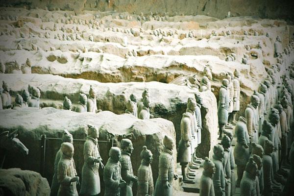 Terakotowa Armia w Xi'an.