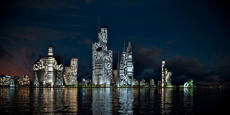 Azerbaijan Tower Wieża Azerbejdżanu