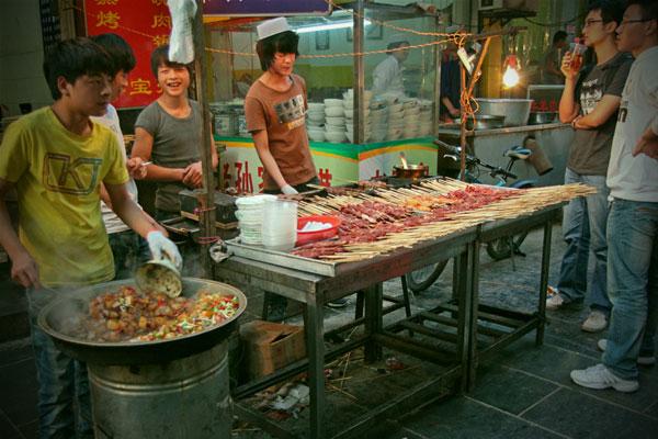 Chińskie szaszłyki.