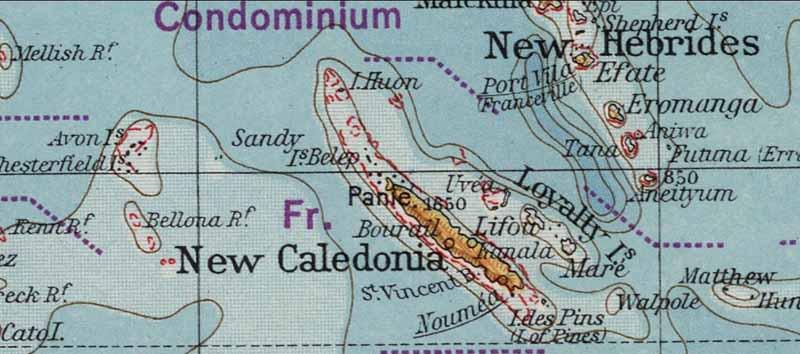 Sandy Island mapa