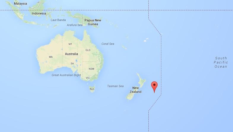 Wyspy Chatham położenie