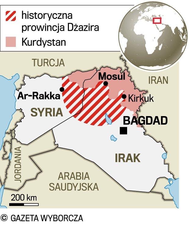 kurdystan mapa świata