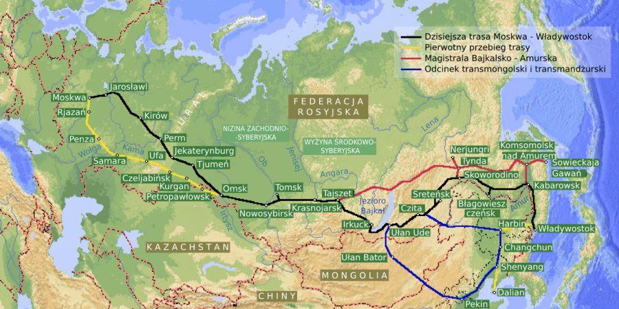 Kolej Transsyberyjska trasa