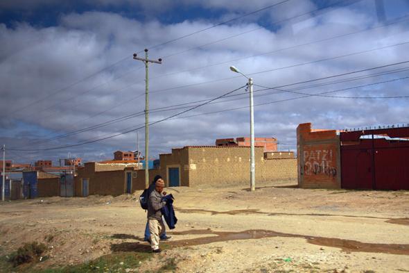 Ubogie przedmieścia La Paz - El Alto.