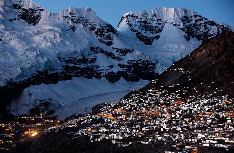 La Rinconada. Panorama najwyżej położonego miasta świata. Źródło:emaze.com